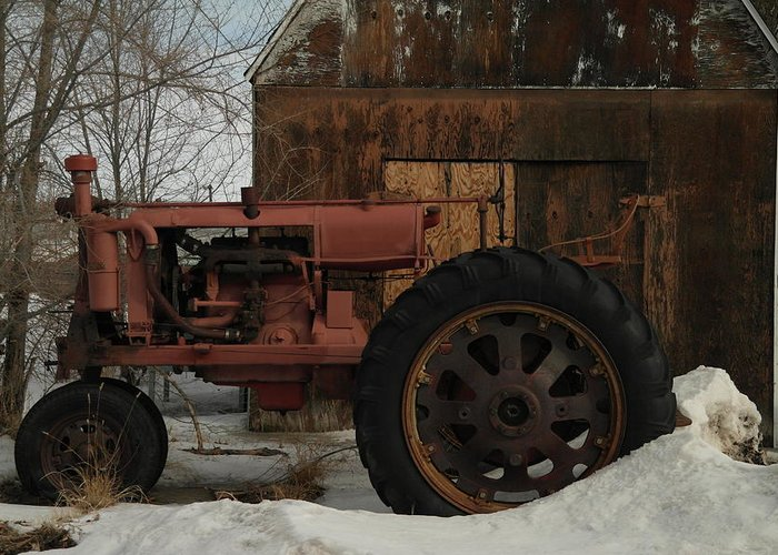 Tractors Greeting Card featuring the photograph An Old John Deer by Jeff Swan