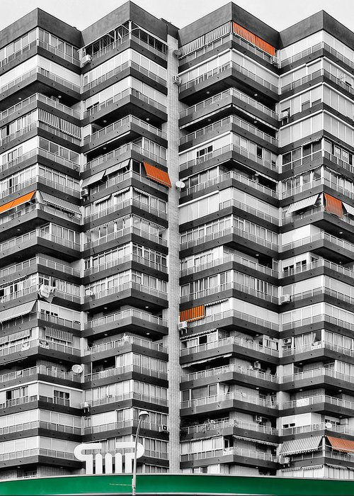 Architecture Greeting Card featuring the photograph Anarchitecture Viii by Pedro Fernandez