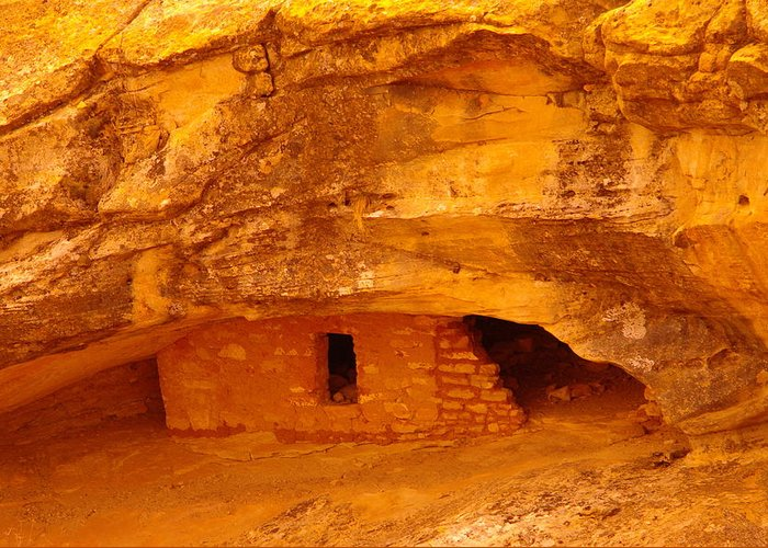 Indian Ruins Greeting Card featuring the photograph Anasazi Ruins by Jeff Swan