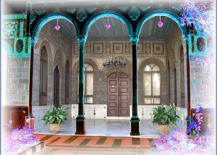 Arch Greeting Card featuring the photograph Colored Life. by Freddy Kirsheh