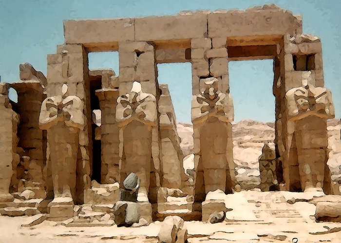 Art Greeting Card featuring the photograph Ancient Egypt by Piero Lucia