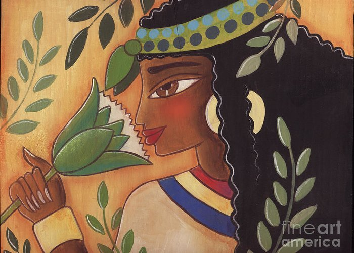 Ancient Egyptian Greeting Card featuring the painting Ancient Egyptian Belle by Elaine Jackson