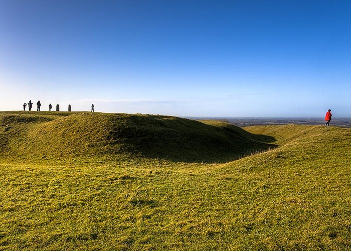 Hill Of Tara Greeting Card featuring the photograph Ancient Hill Of Tara In The Winter Sun by Mark Tisdale