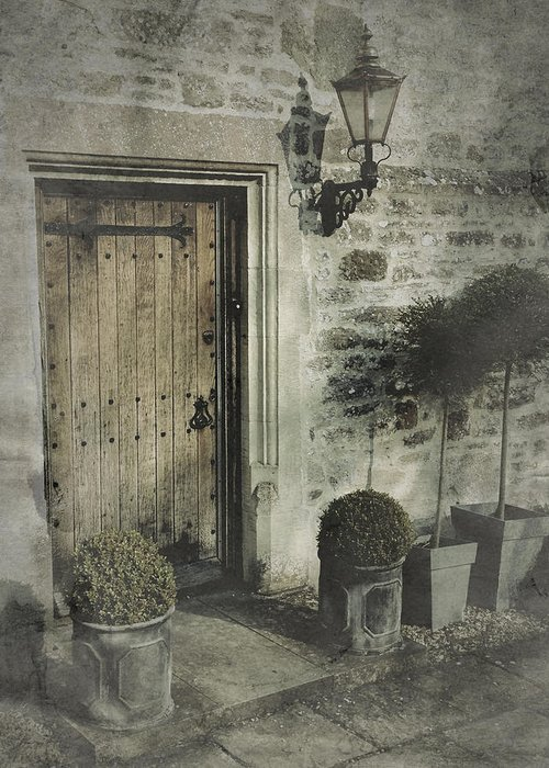 Doorway Greeting Card featuring the photograph Ancient Medieval Door by John Colley