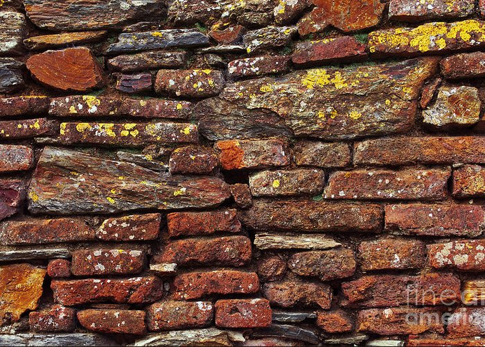 Aged Greeting Card featuring the photograph Ancient Wall by Carlos Caetano