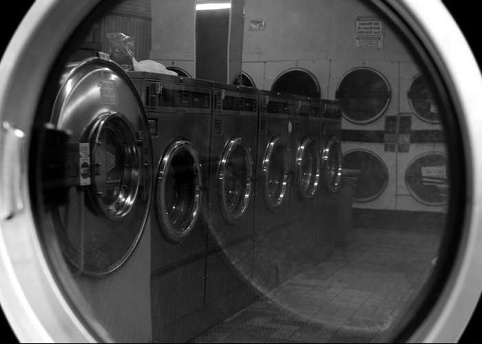 Laundromat Greeting Card featuring the photograph And So We Meet Again... by Luke Moore