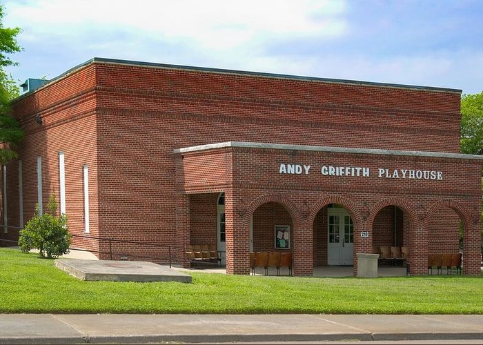 Andy Griffith Playhouse Greeting Card featuring the photograph Andy Griffith Playhouse Nc by Bob Pardue