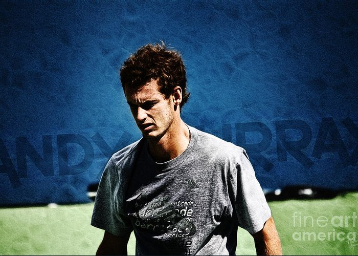 Andy Murray Greeting Card featuring the photograph Andy Murray by Nishanth Gopinathan