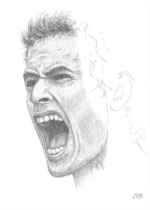 Andy Murray Sketch Greeting Card featuring the drawing Andy Murray Sketch by Conor O'Brien