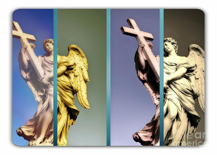 Angels Greeting Card featuring the photograph Angel And Supernatural by Stefano Senise