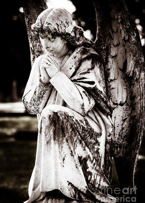 Angel Greeting Card featuring the photograph Angel In Prayer by Sonja Quintero