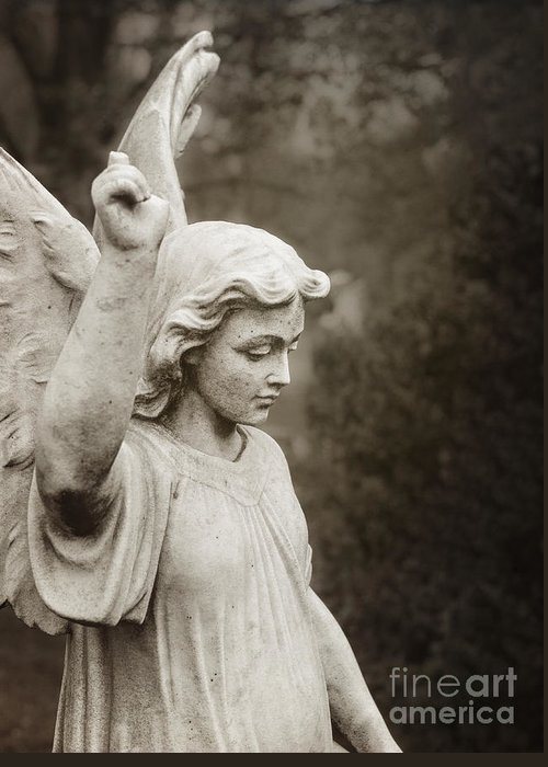 Angel Greeting Card featuring the photograph Angel Of Comfort by Terry Rowe