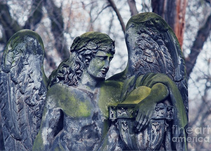 Old Greeting Card featuring the photograph Angel by Sarka Olehlova