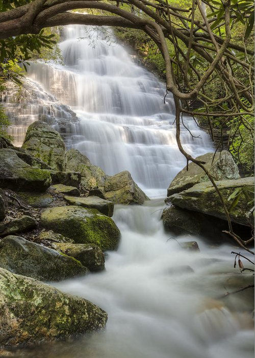 Appalachia Greeting Card featuring the photograph Angels At Benton Waterfall by Debra and Dave Vanderlaan