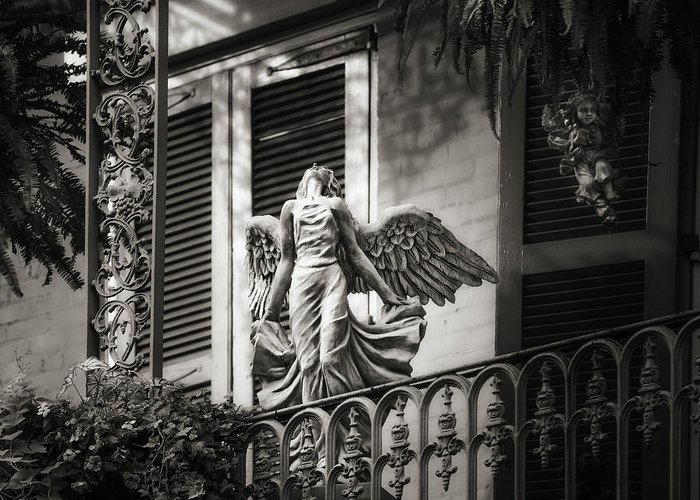 French Quarter Greeting Card featuring the photograph Angels by Brenda Bryant