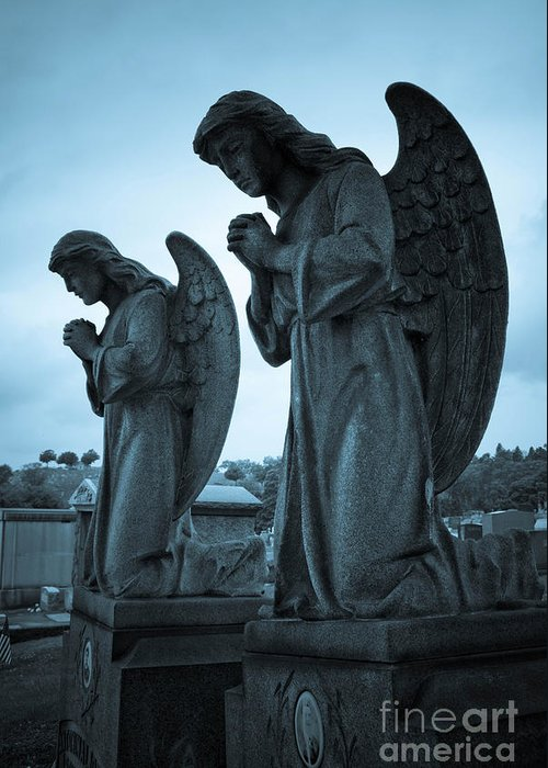 Afterlife Greeting Card featuring the photograph Angels In Prayer by Amy Cicconi