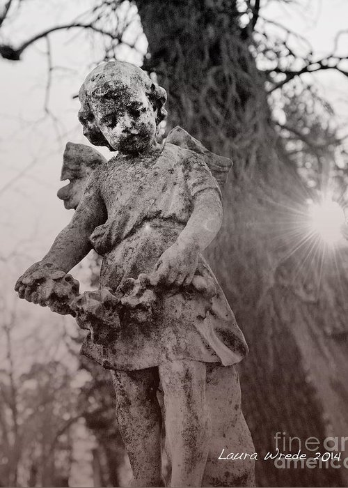 Angels Greeting Card featuring the photograph Angels Will Watch Over You by Artist and Photographer Laura Wrede