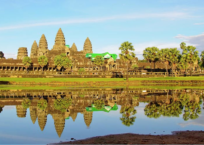 Tranquility Greeting Card featuring the photograph Angkor Wat by Photo By Ramón M. Covelo