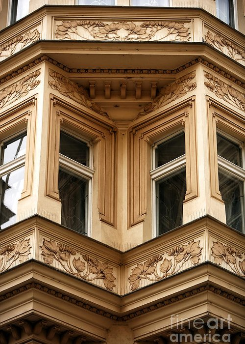 Angled Windows Greeting Card featuring the photograph Angled Windows by John Rizzuto