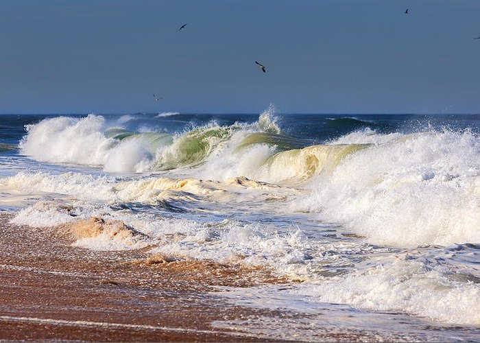 Beach Greeting Card featuring the photograph Angry Sea by Bill Wakeley