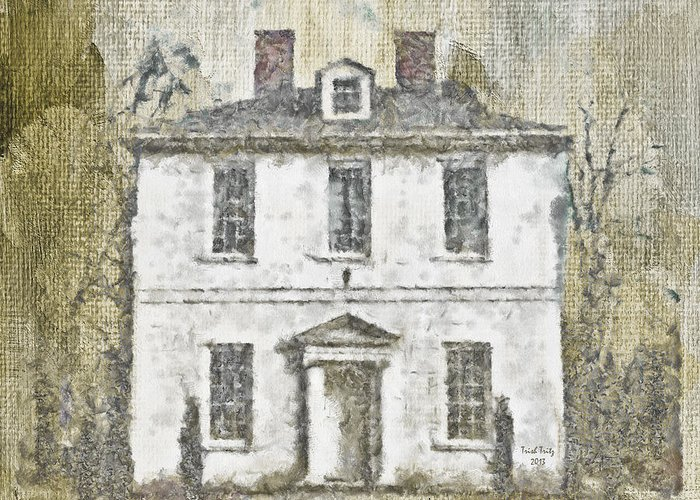 House Greeting Card featuring the mixed media Animal House by Trish Tritz