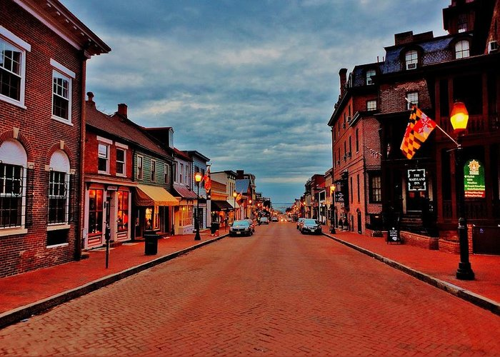 Annapolis Greeting Card featuring the photograph Annapolis by Benjamin Yeager