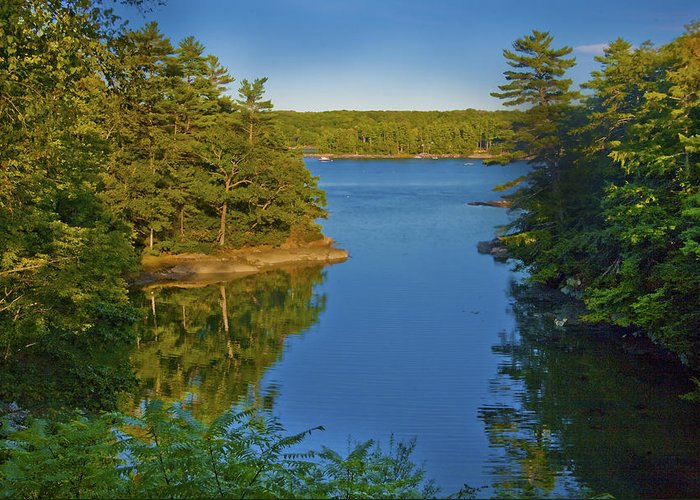 Maine Greeting Card featuring the photograph Anne's Cove by Jill Brooks