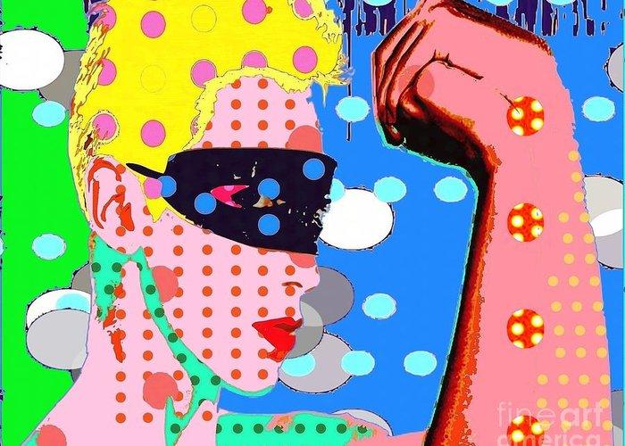 Annie Lenox Greeting Card featuring the digital art Annie Lennox by Ricky Sencion