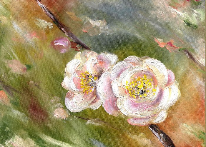 Flower Greeting Card featuring the painting Anniversary by Hiroko Sakai