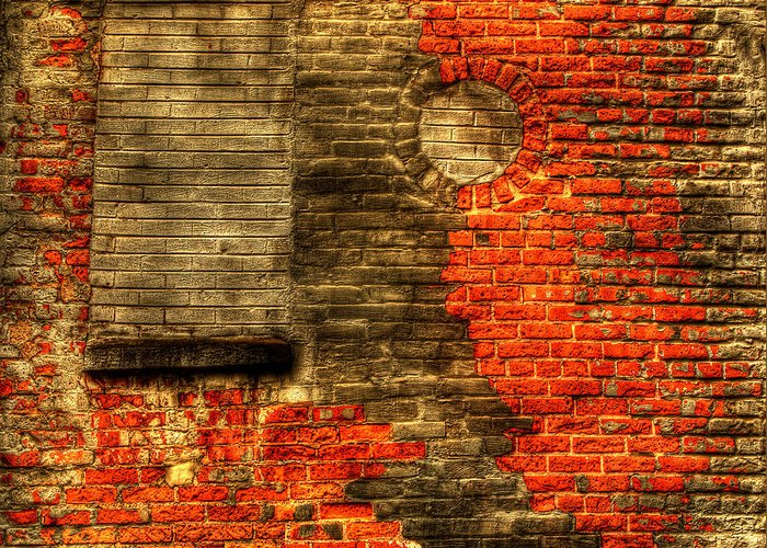 Wall Greeting Card featuring the photograph Another Brick In The Wall by Thomas Young