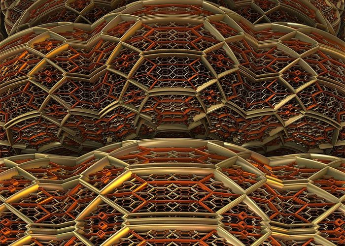 Fractal Art Greeting Card featuring the digital art Another Fine Mesh You Got Me Into by Ricky Jarnagin
