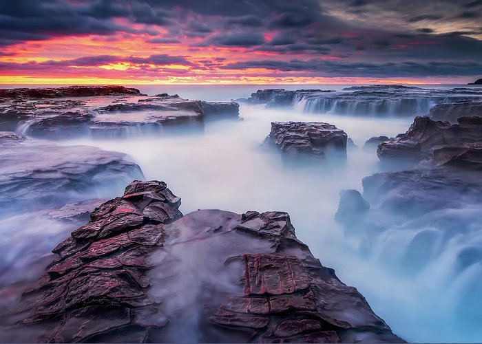 Kiama Greeting Card featuring the photograph Another World by Joshua Zhang