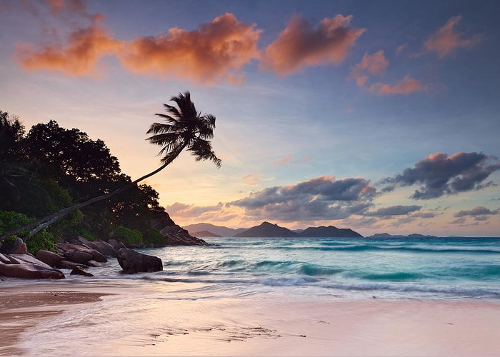 La Digue Greeting Card featuring the photograph Anse Severe by Michael Breitung
