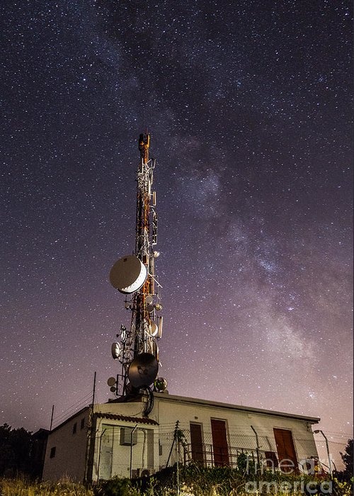 Greeting Card featuring the photograph Antenna by Eugenio Moya