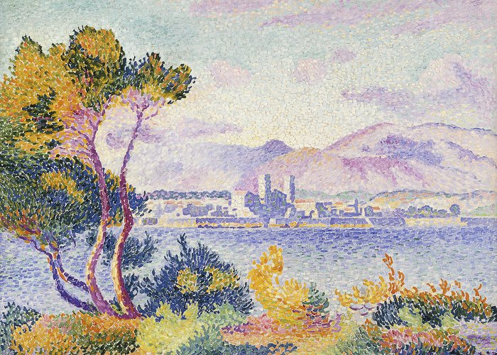 Antibes Greeting Card featuring the painting Antibes Afternoon by Henri Edmond Cross