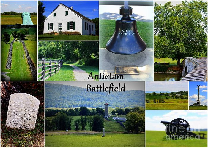 Antietam Collage Greeting Card featuring the photograph Antietam Collage by Patti Whitten