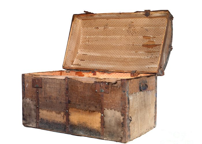 Adventure Greeting Card featuring the photograph Antique Chest by Sinisa Botas