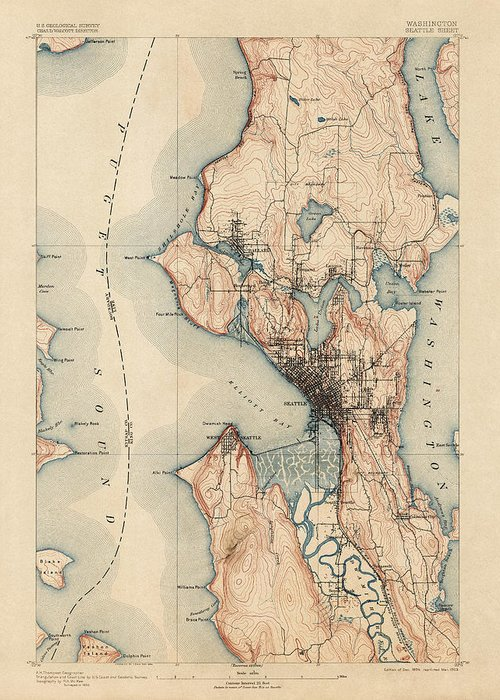 Puget Sound Drawings Greeting Cards