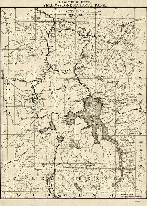 Antique Map Of Yellowstone National Park By The U. S. War Department on willamette river map usa, chicago map usa, montana map usa, st. louis map usa, idaho map usa, wyoming map usa, black hills map usa, cheyenne map usa, mount mckinley map usa, utah map usa, united states map usa, national park service map usa, clearwater national forest map usa, austin map usa, yellowstone river map usa, olympic mountains map usa, boise map usa, yale university map usa, evansville map usa, mt. rainier national park on map of usa,