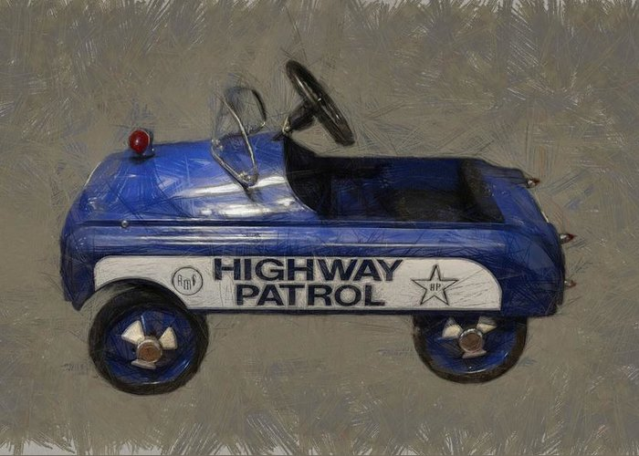 Pedal Car Greeting Card featuring the photograph Antique Pedal Car V by Michelle Calkins