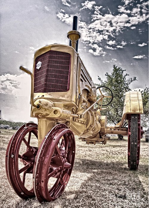 Tractor Greeting Card featuring the photograph Antique Tractor by Tamyra Ayles