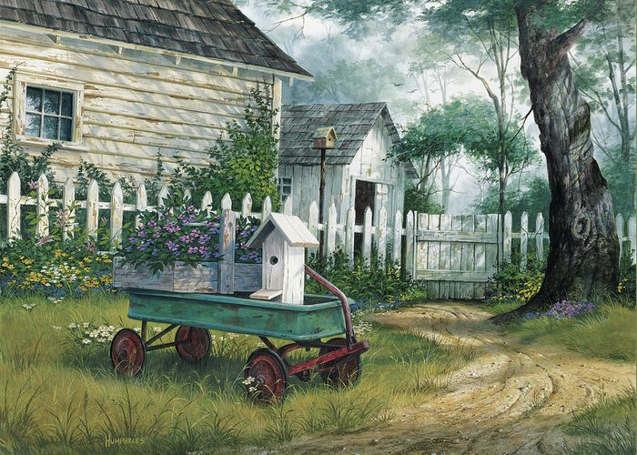 Antique Wagon Greeting Cards