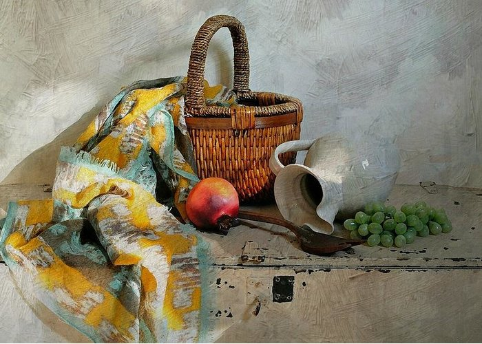 Still Life Greeting Card featuring the photograph Any Day by Diana Angstadt