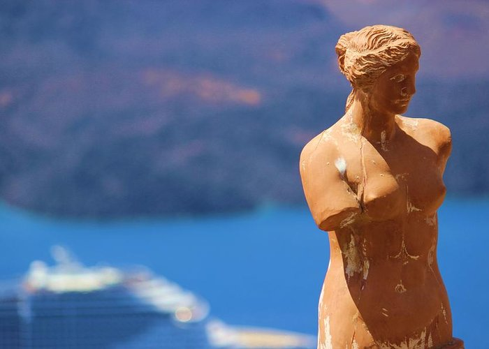 Greece Greeting Card featuring the photograph Aphrodite Greek Goddess by Janice Aponte