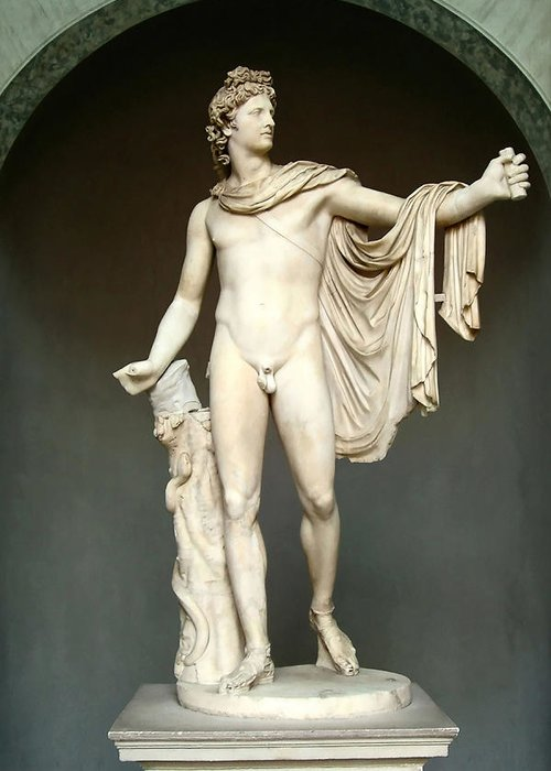 Apollo Greeting Card featuring the photograph Apollo Belvedere by Ellen Henneke