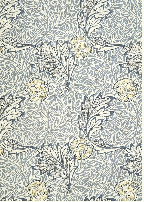 William Greeting Card featuring the tapestry - textile Apple Design 1877 by William Morris