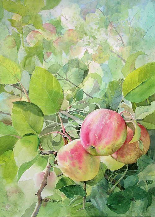 Kris Parins Greeting Card featuring the painting Apple Pie by Kris Parins