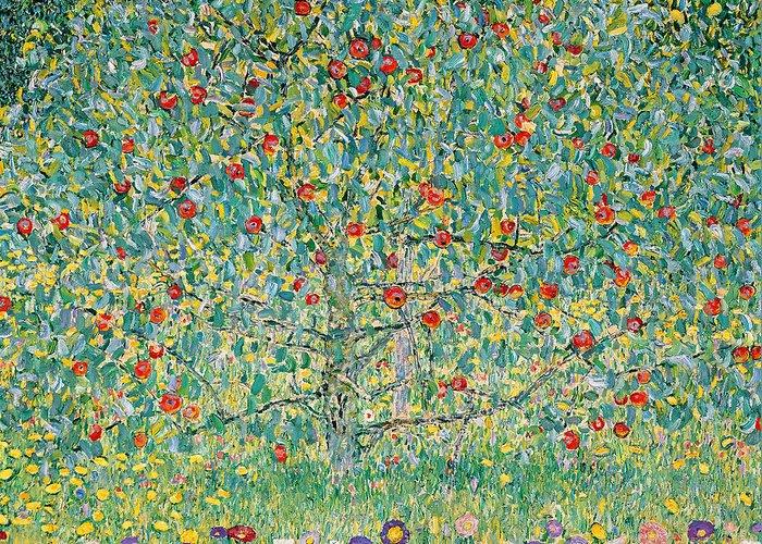 Gustav Klimt Greeting Card featuring the painting Apple Tree I by Gustav Klimt