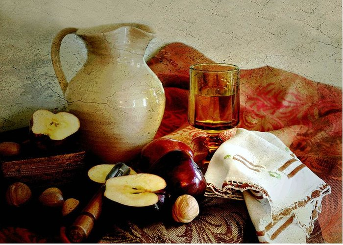 Classic Still Life Greeting Card featuring the photograph Apples Today by Diana Angstadt