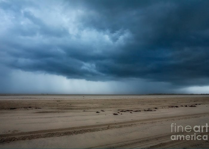 North Carolina Greeting Card featuring the photograph Approaching Storm - Outer Banks by Dan Carmichael